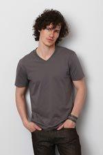 Heren v-hals t-shirts bedrukken