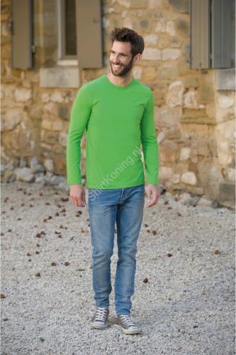 Heren t-shirt lange mouw lemon&soda 1265 cot/elast - kleding-lemon&soda 1265