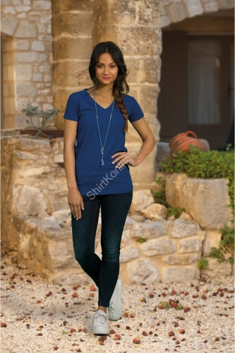 Dames t-shirt v-hals lemon&soda 1262 cot/elast - kleding-lemon&soda 1262