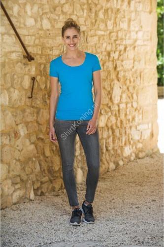 Dames t-shirt ronde hals lemon&soda 1268 cot/elast - kleding-lemon&soda 1268